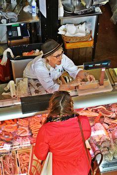 Hietalahti market hall, butcher Roslund  #food tour #Helsinki #Finnish food #Scandinavia