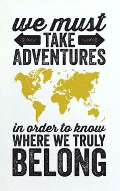 Adventure to find yourself