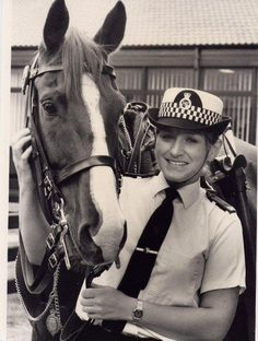 This photo shows a horse from our old mounted section. The photo was taken in 1985.