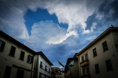 Clouds above Arezzo Italy.