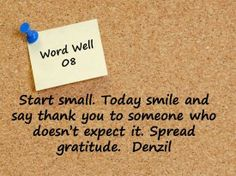 Today is a great day to say thanks ...and ramdom acts of thanks is wow!!!!
