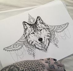 Wolf Under bust Tattoo by Medusa Lou Tattoo Artist - medusaloux@outlook.com #WolfTattooIdeas