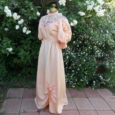 Vintage 1970's 'Edwardian' Peach Gown Retro by LuminousLadyVintage, $125.00