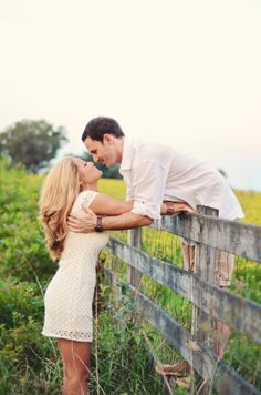 Gorgeous outdoor farm and fruit orchard engagement shoot by Stephie Hicks Photography | Done Brilliantly