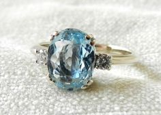 Alternative Engagement Ring 1.75 Aquamarine by LoveAlwaysGalicia