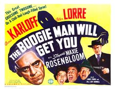 """This 1942 horror comedy sought to cash in on Boris Karloff's Broadway success in the play """"Arsenic and Old Lace."""" Ironically, when the play was filmed in 1944, Karloff was unable to repeat his role, being replaced by Raymond Massey made up to resemble Karloff. Got that? I get these headaches."""