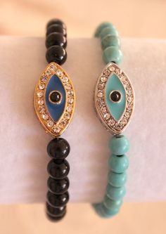 Rhinestone Evil Eye Bracelet
