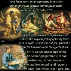 And Jesus went on progressing in wisdom and in physical growth and in favor with God and men. Jw Bible, Bible Text, Daily Bible, Bible Scriptures, Jesus Son Of God, Word Of God, Jesus Christ, Spiritual Values, Spiritual Encouragement