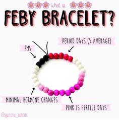 Period Tracking Bracelet, Selene Beads Bracelet,Tween
