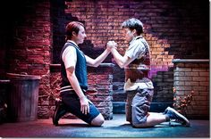"Cody Jolly and Charlie Mann star as Mickey and Edward in Theo Ubique Cabaret Theatre's ""Blood Brothers"" by Willy Russell, directed by Fred Anzevino. (photo credit: Adam Vaness)"