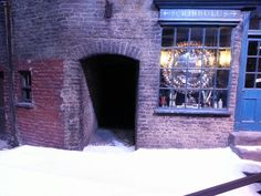 Footprints in the snow. ...Diagon Alley