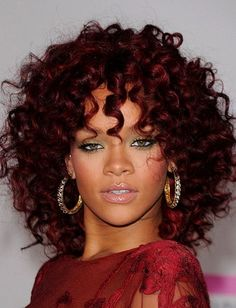 Hair Color : Dark Burgundy Red Hair Color For Medium Curly Hair With Easy Style…