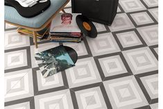 Create a memorable floor design with patterned tiles from the Tangier range. Available in a size. Tile Ref. Non Slip Floor Tiles, Non Slip Flooring, Tile Floor, Stone Mosaic Tile, Mosaic Tiles, Wall Tiles, Cement Tiles, Floor Design, Tile Design