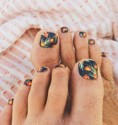 Tropical Toe Nail Designs.