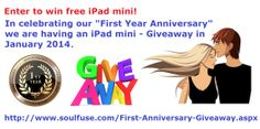 Enter to win free iPad mini from soulFuse.com!