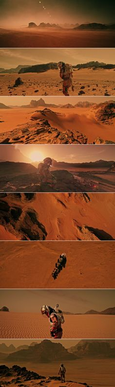Mars scenery in The Martian (2015) Directed by Ridley Scott