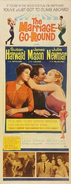 The Marriage-Go-Round (1961) Stars: Susan Hayward, James Mason, Julie Newmar, Robert Paige, June Clayworth ~  Director: Walter Lang