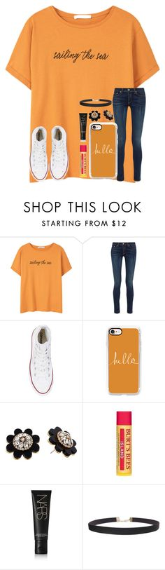 """""""#1• Maybe we're just Kids In Love, Oh Baby •"""" by kari-luvs-u-2 ❤ liked on Polyvore featuring MANGO, rag & bone, Converse, Casetify, Kate Spade, Burt's Bees, NARS Cosmetics, Humble Chic and 15daysofShawnwKarina"""