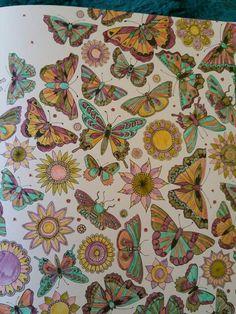 Johanna Basford The Secret Garden coloured by me