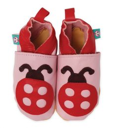 Green Baby Δερμάτινα Παπούτσια με Πασχαλίτσες