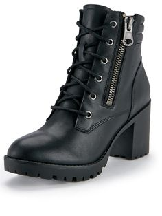 Noodless Leather Lace Up Ankle Boots