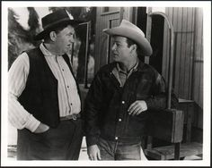 Great old western movie photo. ''Jingles'' and Roy Rogers.