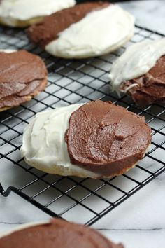 Black and White Cake Cookies - a classic NY favorite!