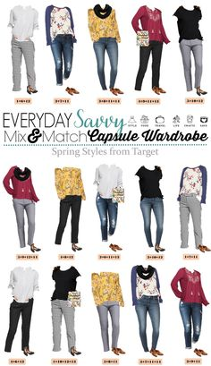 3723592546 Early Spring Outfits - Target Spring Capsule Wardrobe