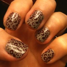 Konad nail art - leopard spots!