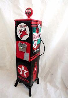 Texaco gas unique Vintage big Northwestern 80 gumball machine+ metal stand #Northwestern