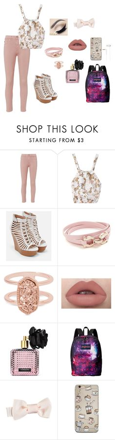 """""""MITM: Third Day (Project)"""" by gravityfallsgirl33 ❤ liked on Polyvore featuring AG Adriano Goldschmied, JustFab, Salvatore Ferragamo, Kendra Scott, Victoria's Secret, JanSport and Sennheiser"""