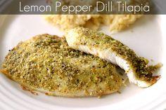 Lemon Pepper Dill TilapiaRecipe - Blog - @threedifferent