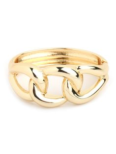 Pair this Gold Link Cuff with a gold chain-link necklace