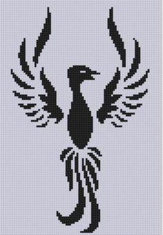 Phoenix rising 3 Cross Stitch Pattern