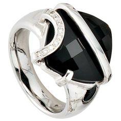 Damen-Ring 1 Onyx 14 Karat (585) Weißgold 10 Diamant 0.05 ct. 50 (15.9) Dreambase, http://www.amazon.de/dp/B00AWANG7C/ref=cm_sw_r_pi_dp_Zjmjtb0T5GH8Z