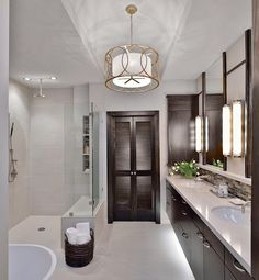 Unbelievable Bathroom Makeovers Beautiful spa-like bathroom! Gorgeous and restful