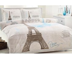Cute for teen room with teal blue walls instead of white. In LOVE with anything Paris related at the moment.