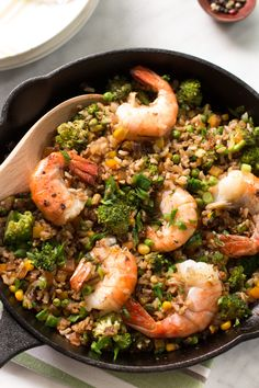 Shrimp Fried Rice with Broccoli - Gluten-free, flavourful and super easy to make! Primavera Kitchen