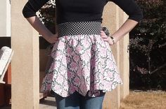 "FREE project: ""Reversible Scalloped Apron"" (from Warehouse Fabrics)"