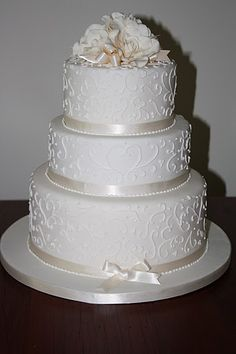 wedding cakes without fondant | have several non-fondant cakes in ...
