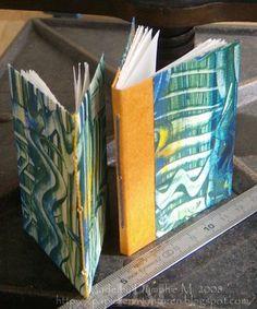 Papieren Avonturen: Paste paper mini-books
