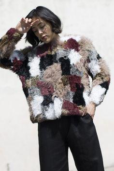 Ulla Johnson - Ynes Knit in Patchwork Fur