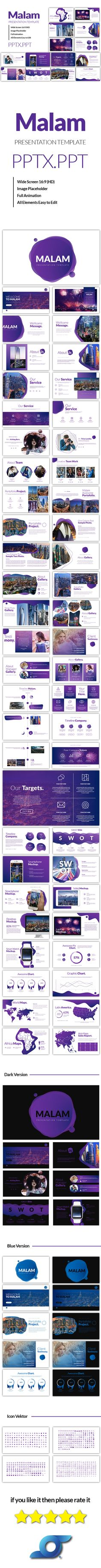 Malam Modren Powerpoint Template - Abstract PowerPoint Templates