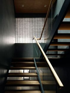 Staircase in the Optical Glass House by Hiroshi Nakamura.
