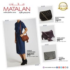 """Show style season-to-season with bags and purses from Matalan's """"Best Seller"""" product! Hurry and get it at your nearest MATALAN store before its gone!  www.matalan-me.com  #matalanme #makesfashionsense #bags #clutch #purses #BestSeller #fabulous #style #wide #Selection #fashion #fashionblogger #specialoffer #Sale #Partsale #big #Savings #ladies #gents #kids #home #offer #promotion #UAE #Qatar #Oman #Bahrain #Jordan"""