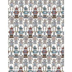 seriously i love paper source so much. i also love robots. Robots Wrapping Paper  $7.95