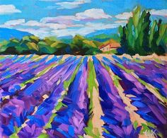 """Daily Paintworks - """"Lavender Blue"""" - Original Fine Art for Sale - © Mary Anne Cary"""
