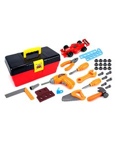 Love this My First Tool Box Play Set by Velocity Toys on #zulily! #zulilyfinds