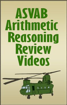 http://www.mometrix.com/academy/asvab-arithmetic-reasoning/   Take a look at these review videos to be prepared for the ASVAB Arithmetic Reasoning section!