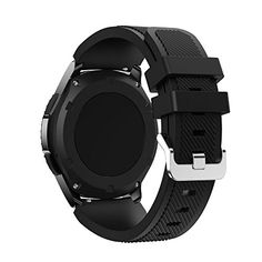 Landfox Sports Silicone Bracelet Strap Band For Samsung Gear S3 Frontier,Black